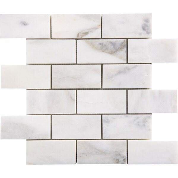 Italian Ma White Marble 2 Inch X 4 3 8