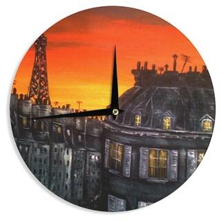 KESS InHouseChristen Treat 'Paris' Wall Clock