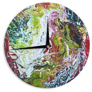 KESS InHouseClaire Day 'Chaos' Red White Wall Clock