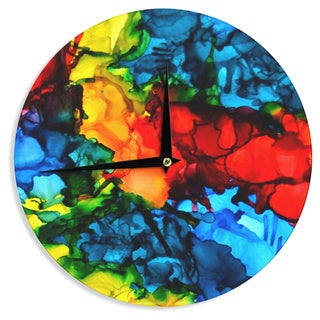 KESS InHouseClaire Day 'Family Photos III' Blue RedWall Clock