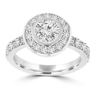 La Vita Vital 14K WG 2 .25cts TDW Diamond Halo Engagement Ring
