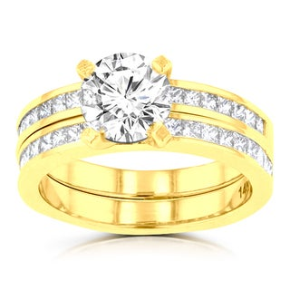 14k Yellow Gold 2 1/10ct TDW La Vita Vital Bridal Set (G-H, SI1-SI2)