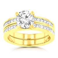 La Vita Vital 14k Yellow Gold 2.05ct. TDW Diamond Bridal Set