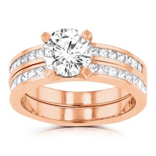 14k Rose Gold 2 1/10ct TDW La Vita Vital Bridal Set (G-H, SI1-SI2)
