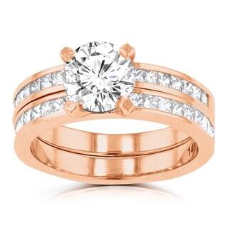 La Vita Vital 14k Rose Gold 2.05ct. TDW Diamond Bridal Set