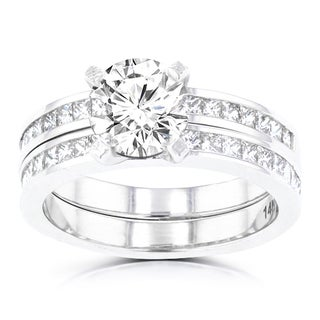 14k White Gold 2 1/10ct TDW La Vita Vital Bridal Set (G-H, SI1-SI2)