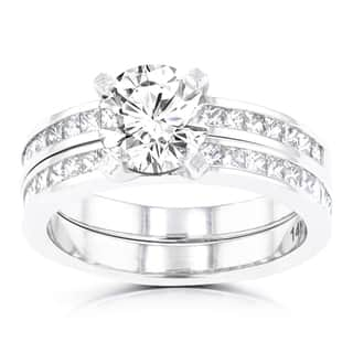 La Vita Vital 14k White Gold 2.05ct. TDW Diamond Bridal Set|https://ak1.ostkcdn.com/images/products/12897441/P19654901.jpg?impolicy=medium