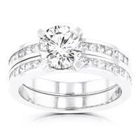 La Vita Vital 14k White Gold 2.05ct. TDW Diamond Bridal Set