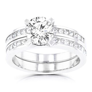 La Vita Vital 14k White Gold 2.05ct. TDW Diamond Bridal Set