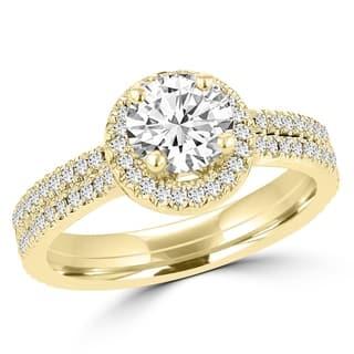 La Vita Vital 14K Yellow Gold Diamond 0.95ct TDW Bridal Set - White G-H|https://ak1.ostkcdn.com/images/products/12897442/P19654902.jpg?impolicy=medium