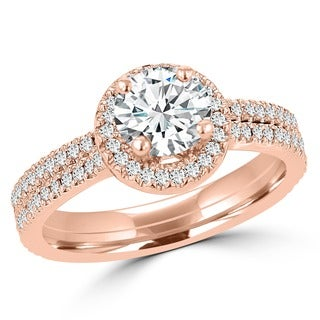 14k Rose Gold 1ct TDW La Vita Vital Bridal Set (G-H, SI1-SI2)