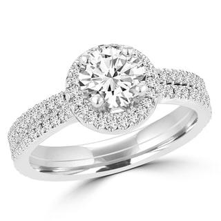 14k White Gold 1ct TDW La Vita Vital Bridal Set (G-H, SI1-SI2)