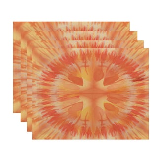 Shibori Burst Geometric Print Place Mat (Set of 4)