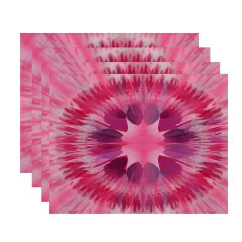 Shibori Burst Geometric Print Place Mat (Set of 4)