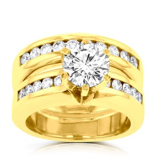 14k Yellow Gold 1 7/8ct TDW La Vita Vital Bridal Set (G-H, SI1-SI2)