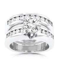 La Vita Vital 14k White Gold 1.85ct. TDW Diamond Bridal Set