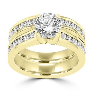 14k Yellow Gold 2 1/4ct TDW La Vita Vital Bridal Set (G-H, SI1-SI2)