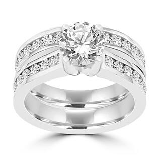 La Vita Vital 14K White Gold Diamond 2.25cts TDW Bridal Set - White G-H|https://ak1.ostkcdn.com/images/products/12897455/P19654912.jpg?impolicy=medium