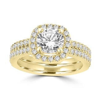 La Vita Vital 14k Yellow Gold Diamond 1 3/4ct TDW Bridal Set