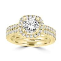 La Vita Vital 14k Yellow Gold Diamond 1 3/4ct TDW Bridal Set
