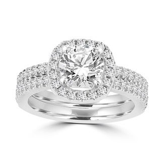 14k White Gold 1 3/4ct TDW Bridal Set La Vita Vital (G-H, SI1-SI2)
