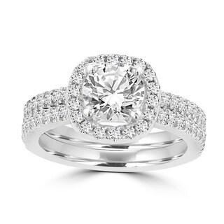 La Vita Vital 14k White Gold Diamond 1 3/4ct TDW Bridal Set