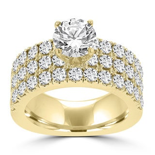 La Vita Vital 14k Yellow Gold 3 1/5ct TDW Diamond Engagement Ring