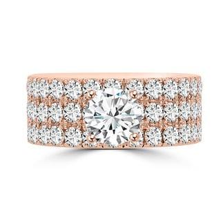 14k Rose Gold 3 1/5ct TDW La Vita Vital Engagement Ring (G-H, SI1-SI2)