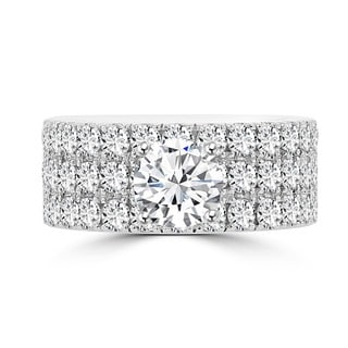 La Vita Vital 14k White Gold 3 1/5ct TDW Diamond Engagement Ring