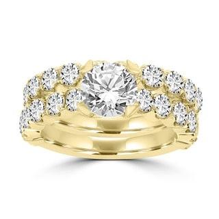 14k Yellow Gold 3 2/5ct TDW La Vita Vital Bridal Set (G-H, SI1-SI2)