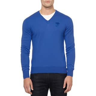 Versace Collection Blue Medusa Wool Sweater|https://ak1.ostkcdn.com/images/products/12897466/P19654884.jpg?impolicy=medium