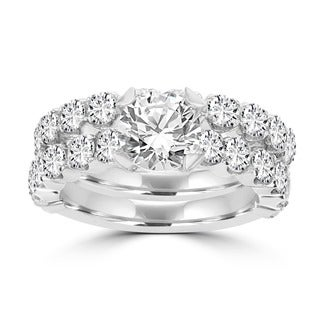 14k White Gold 3 2/5ct TDW La Vita Vital Bridal Set (G-H, SI1-SI2)