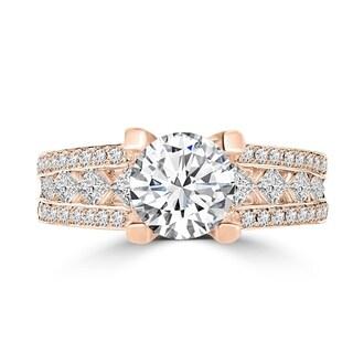 14k Rose Gold 2ct TDW La Vita Vital Engagement Ring (G-H, SI1-SI2)