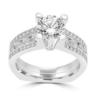 14k White Gold 2ct TDW La Vita Vital Engagement Ring (G-H, SI1-SI2)
