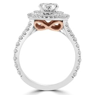 La Vita Vital 14k White/ Rose Gold 1 4/5ct TDW Double Halo Diamond Engagement Ring|https://ak1.ostkcdn.com/images/products/12897480/P19654927.jpg?impolicy=medium