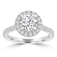 La Vita Vital 14k White Gold 1.55ct TDW Diamond Halo Engagement Ring