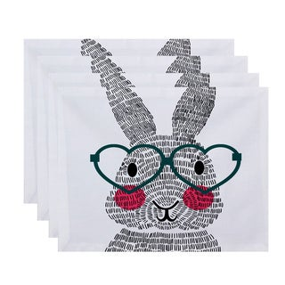 What's Up Bunny? Holiday Animal Print Place Mat (Set of 4)
