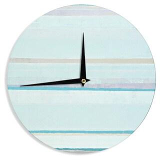 KESS InHouseCarolLynn Tice 'Cost' Blue Aqua Wall Clock