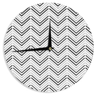 KESS InHouseCarolLynn Tice 'Distinct' Black White Wall Clock