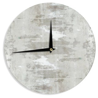 KESS InHouseCarolLynn Tice 'Effortless' Neutral Gray Wall Clock