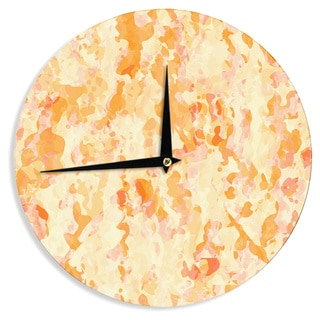 KESS InHouseCarolLynn Tice 'Explosion' Orange Wall Clock