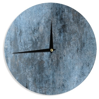 KESS InHouseCarolLynn Tice 'Familiar' Dark Blue Wall Clock
