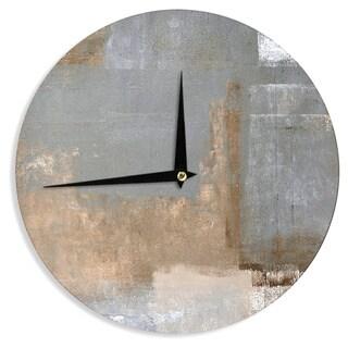 KESS InHouseCarolLynn Tice 'Gifted II' Brown Gray Wall Clock