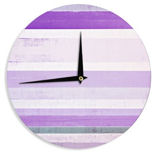 KESS InHouseCarolLynn Tice 'Grape' Purple White Wall Clock