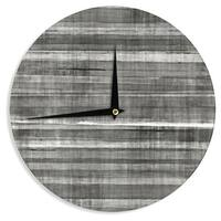 KESS InHouseCarolLynn Tice 'Grey Accent' Dark Neutral Wall Clock