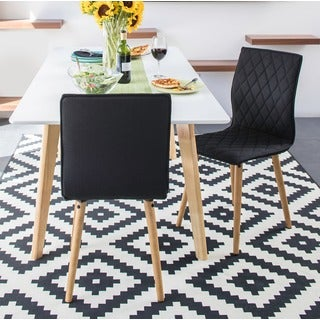 Portfolio Portland Midnight Black Linen Dining Chairs (Set of 2)