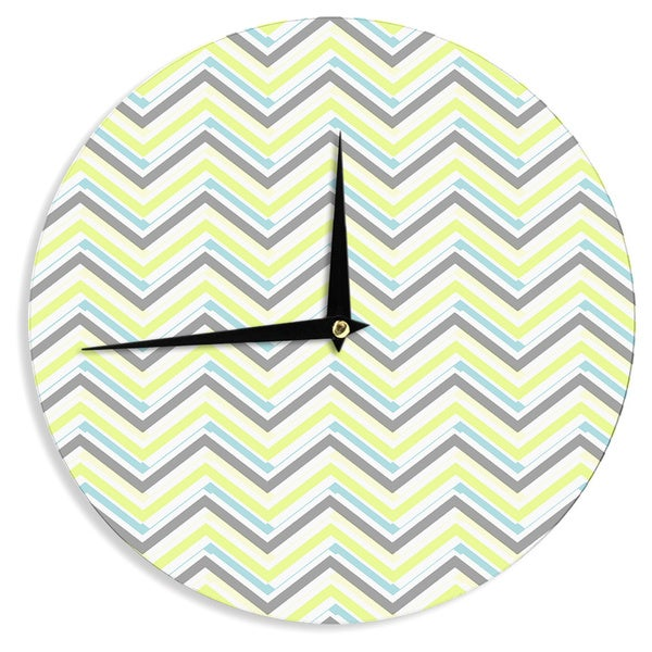 KESS InHouseCarolLynn Tice 'Ideal' Gray Yellow Wall Clock