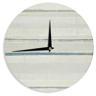 KESS InHouseCarolLynn Tice 'Input' Light Tan Wall Clock
