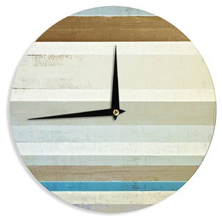 KESS InHouseCarolLynn Tice 'Invent' Neutral Brown Wall Clock