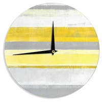 KESS InHouseCarolLynn Tice 'Lemon' Yellow Gray Wall Clock